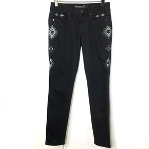 AEO | Skinny Stretch Tribal Embroidery Jeans